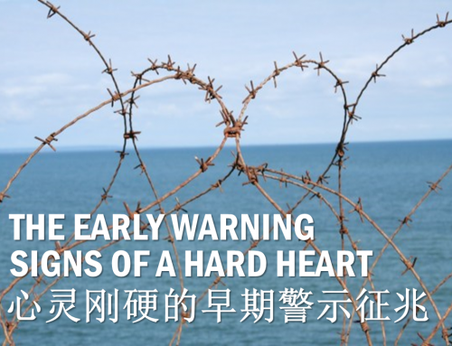 THE EARLY WARNING SIGNS OF A HARD HEART / 心灵刚硬的早期警示征兆